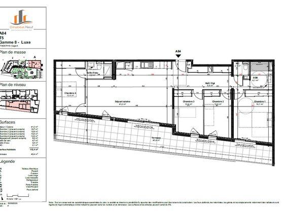Vente appartement 5 pièces 112,8 m2