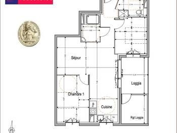 Appartement 3 pièces 59,61 m2