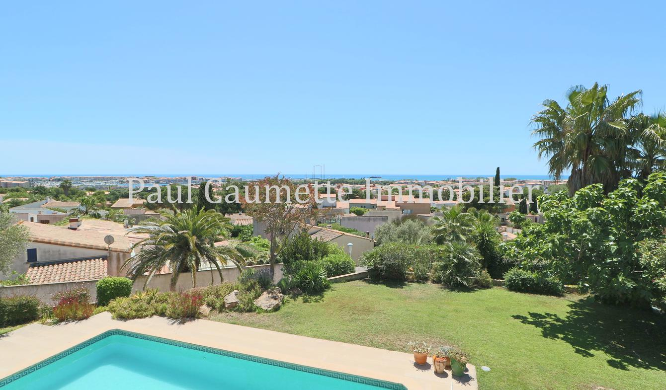 Contemporary house with pool and garden Le Cap d'Agde