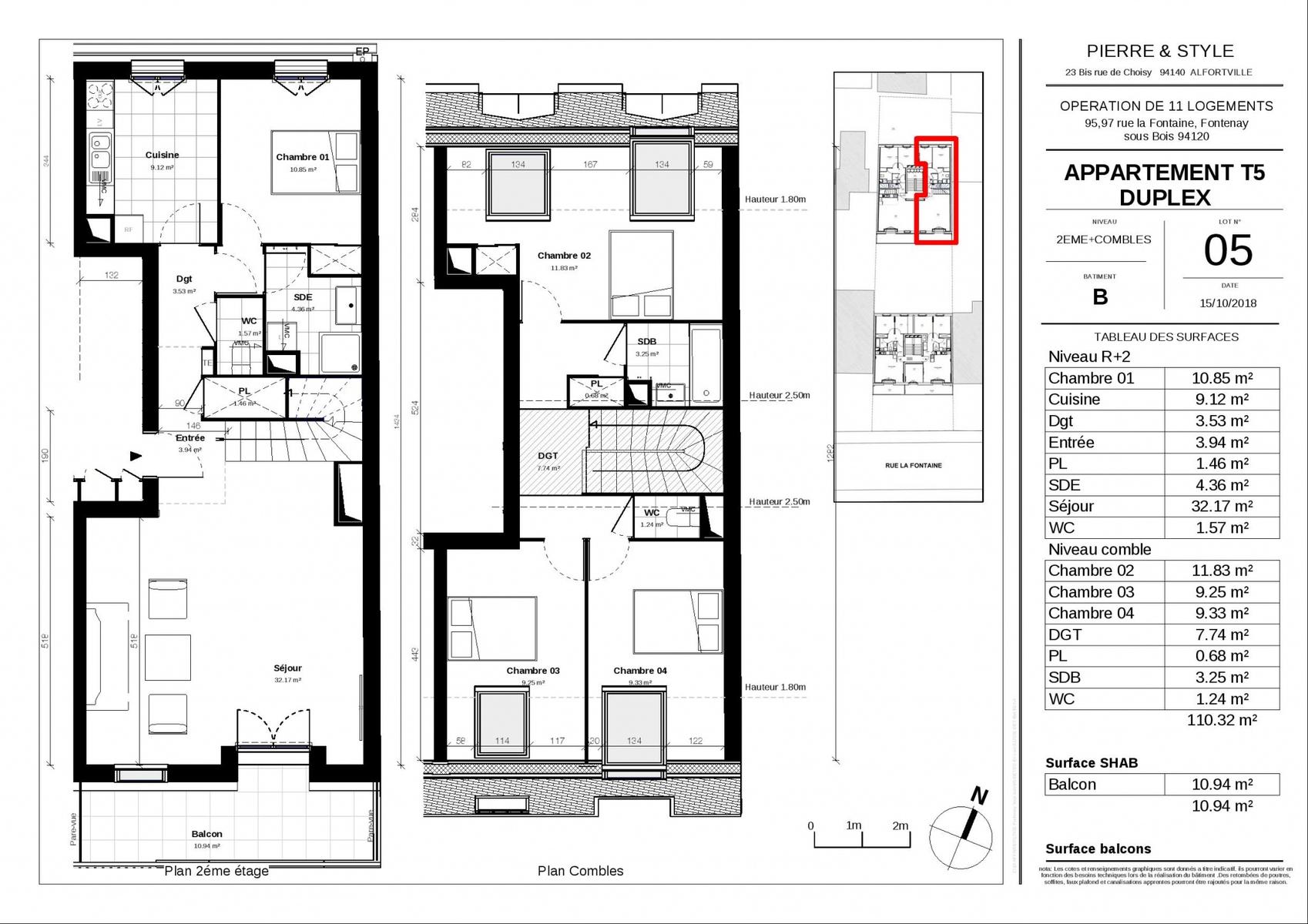 plan appartement 62m2