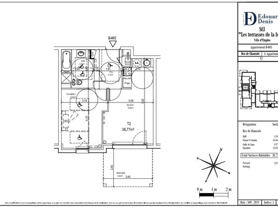 Vente appartement 2 pièces 38,77 m2