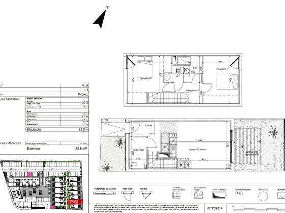vente Villa 3 pièces 72 m2 Baillargues