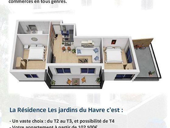 Vente appartement 3 pièces 61,1 m2