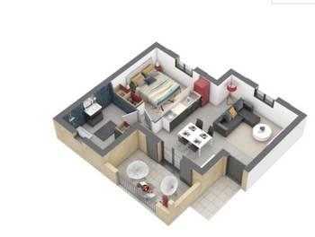 Appartement 2 pièces 42,67 m2