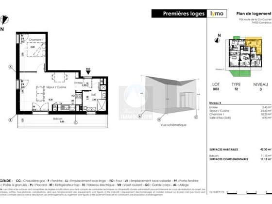 Vente appartement 39,6 m2