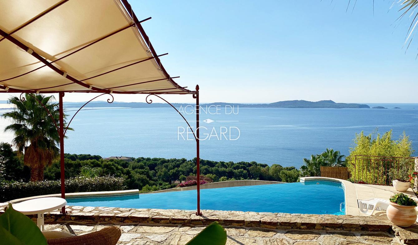 Villa avec piscine en bord de mer Carqueiranne