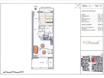 Appartement 2 pièces 49,98 m2