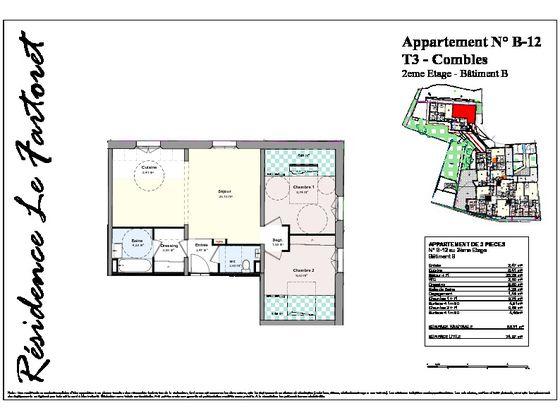 Vente appartement 3 pièces 69,05 m2