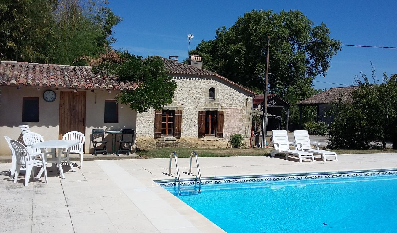 Maison avec piscine et jardin Saint-Colomb-de-Lauzun