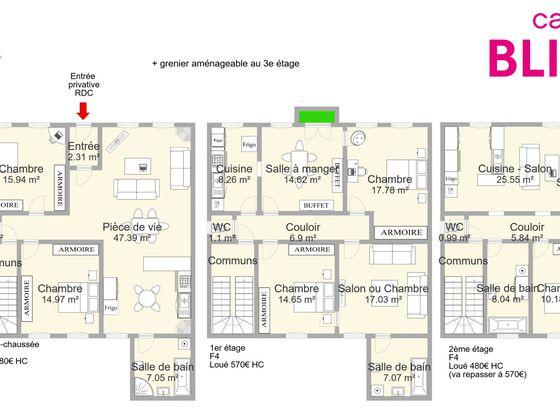 Vente divers 11 pièces 255 m2