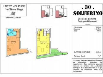 Appartement meublé 2 pièces 44,8 m2