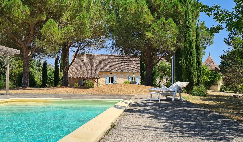 Maison avec piscine et terrasse Miradoux