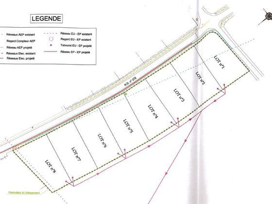 Vente terrain 976 m2