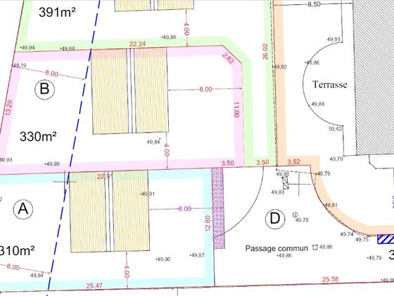 Vente terrain 330 m2