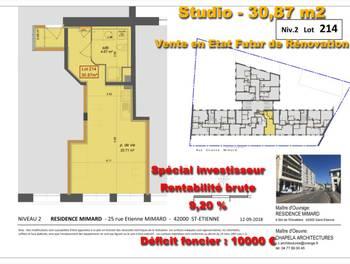 Studio 30,87 m2