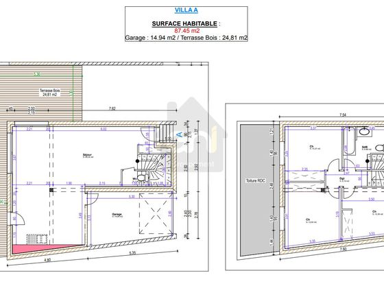 Vente villa 4 pièces 87,45 m2