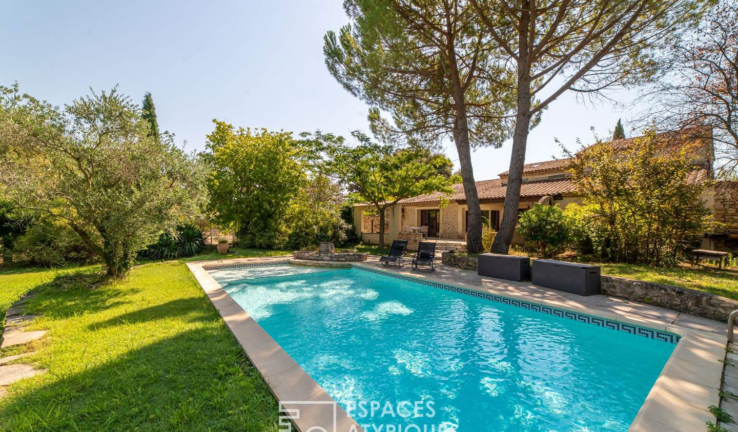 House with pool and terrace Teyran