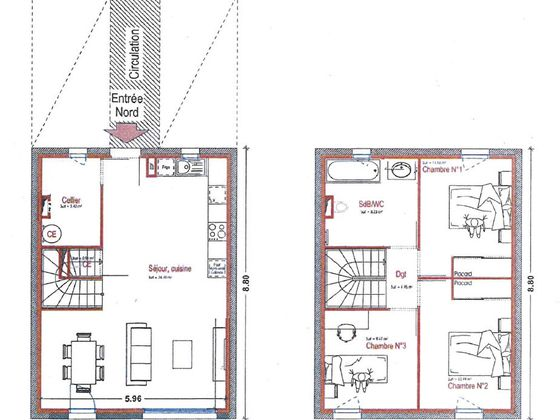 Vente maison 4 pièces 65,33 m2