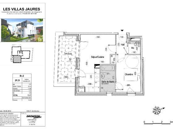 Location appartement meublé 2 pièces 43,07 m2
