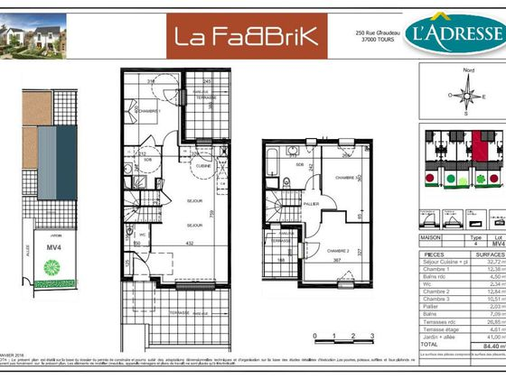 Vente maison 4 pièces 84,4 m2