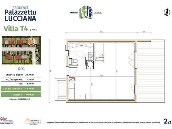 Vente maison 3 pièces 63,3 m2