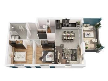 Appartement 3 pièces 64,06 m2