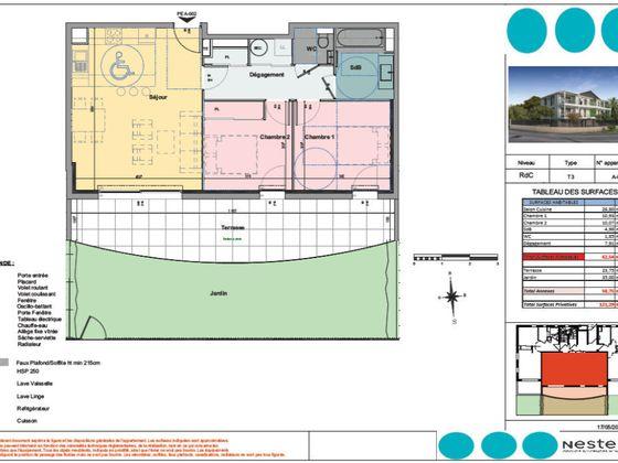 Vente appartement 3 pièces 62,54 m2