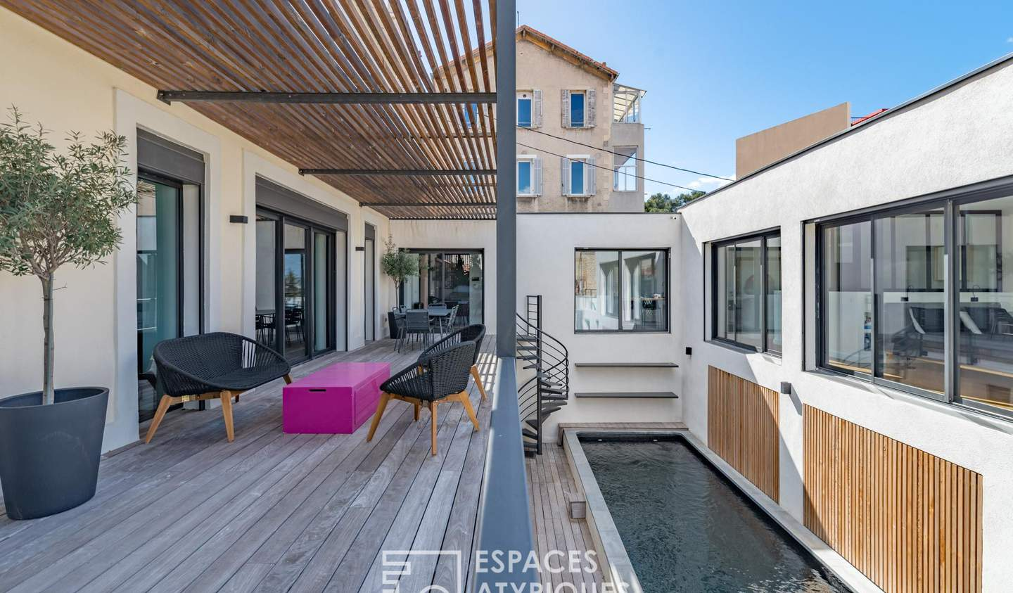 House with pool and terrace Marseille 6th