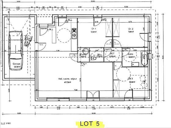 Vente maison 4 pièces 96,32 m2