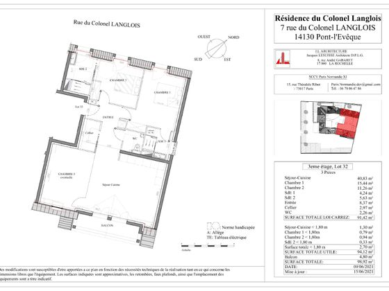 Vente appartement 3 pièces 86,93 m2