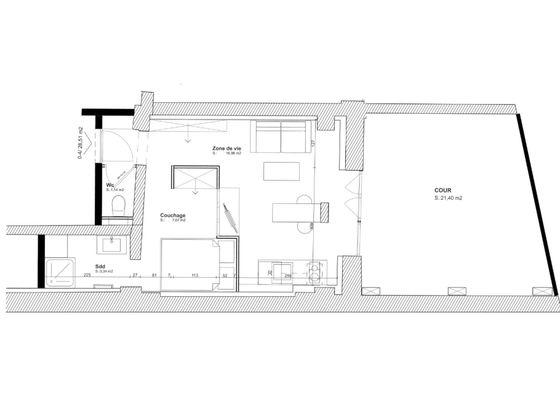 Vente studio 28,51 m2