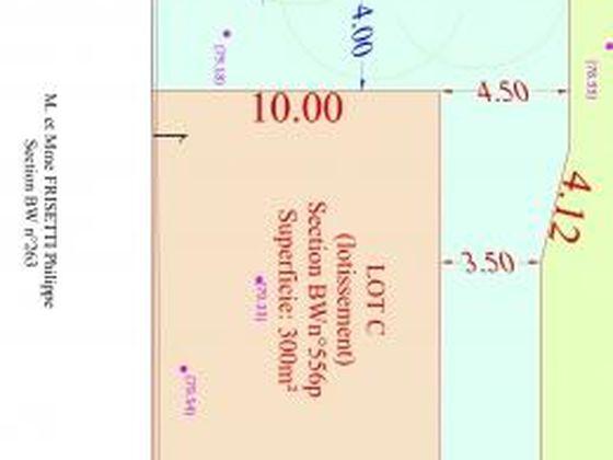 Vente terrain à bâtir 300 m2