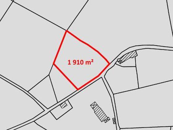 Vente terrain à bâtir 1910 m2