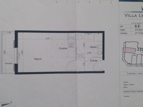 Location studio 25 m2