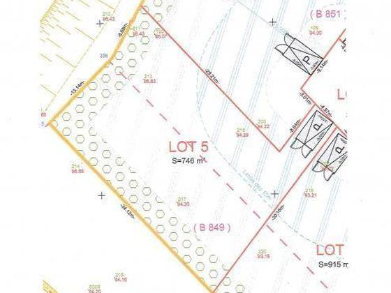 Vente terrain à bâtir 746 m2