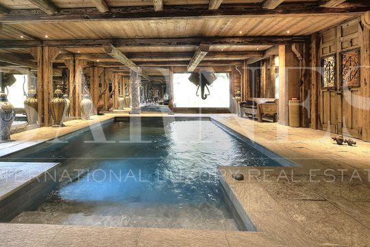 Chalet avec piscine