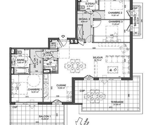 Vente appartement 4 pièces 105,5 m2