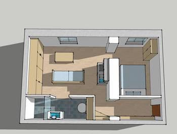 Appartement 2 pièces 22,5 m2