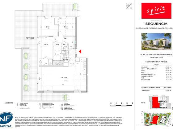 Vente appartement 4 pièces 99,73 m2