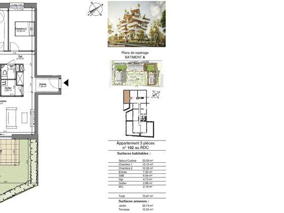 Vente appartement 4 pièces 70,47 m2