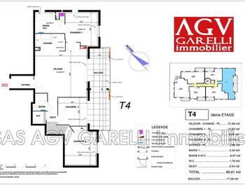 Appartement 4 pièces 80,61 m2