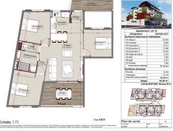 Appartement 6 pièces 95,48 m2