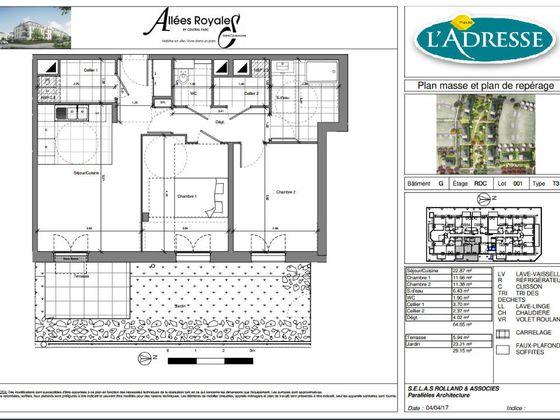Vente appartement 3 pièces 64,65 m2