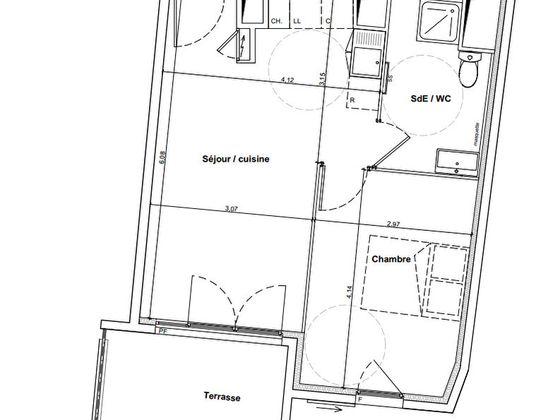 Vente appartement 2 pièces 39,58 m2