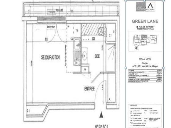Vente studio 23,94 m2