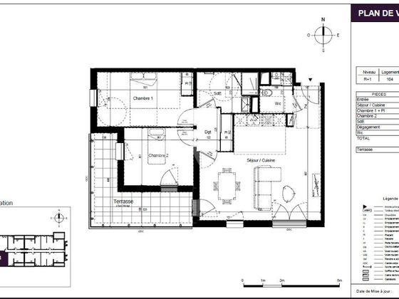 Vente appartement 3 pièces 71,45 m2
