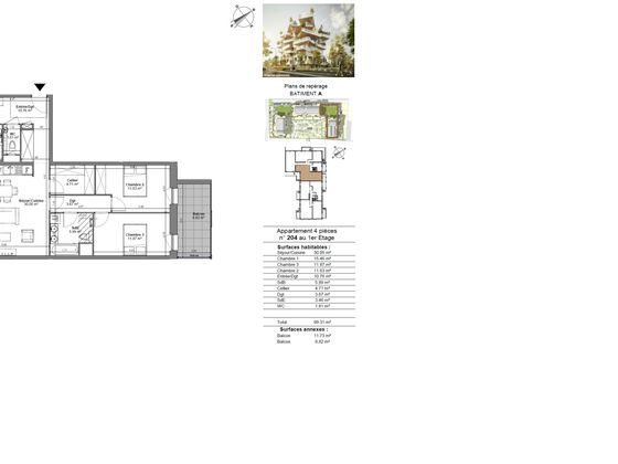 Vente appartement 4 pièces 99,31 m2