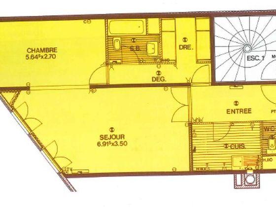Vente appartement 2 pièces 59 m2