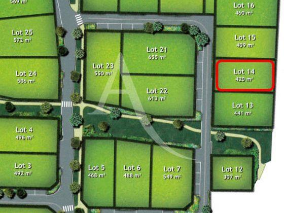 Vente terrain 420 m2