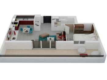 Appartement 2 pièces 48,14 m2